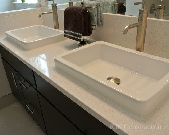Picture Gallery For Website Blanco Maple Silestone Vanity Top Bathroom by RJK Construction Inc rjkconstructioninc http facebook pages RJK Construction u Pinteres u