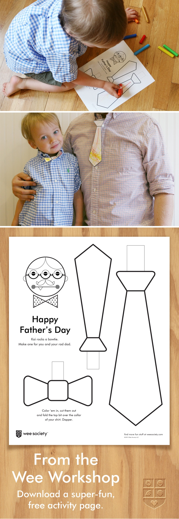 Don't forget dad this weekend. Download our free Father's Day printable and get crafting together.