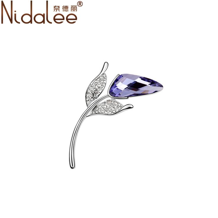 Nidalee 2017 New Hot Fashion Roses Life Zircon Channel Brooches Crystal From Swarovski Brooches For Women Party Jewelry E063 #Affiliate