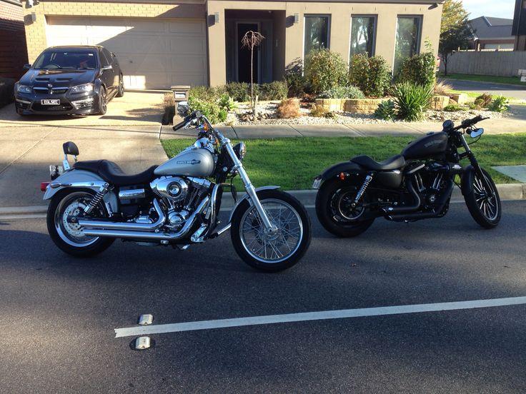 2014 Super Glide & Marks 2013 883 Iron