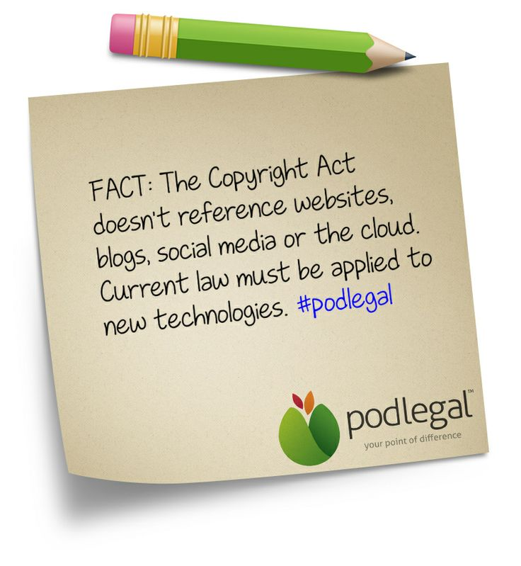 STICKY NOTE: The Copyright Act and blogging, websites and social media #IP #copyright #podlegal