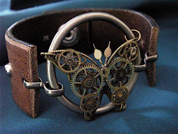 Steampunk Butterfly bracelet - Etsy