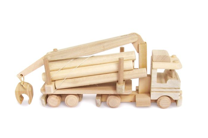 #Wooden Truck with wood #Toy