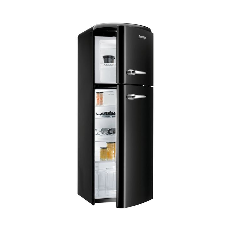 gorenje RF60309 173.7cm Retro Freestanding Black Right Hinge Fridge Freezer
