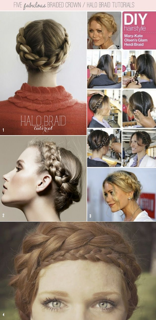 How To Halo Braid / Braided Crown DIY Tutorials ~ no. 5 is a FAB video tutorial. Click through to watch it.