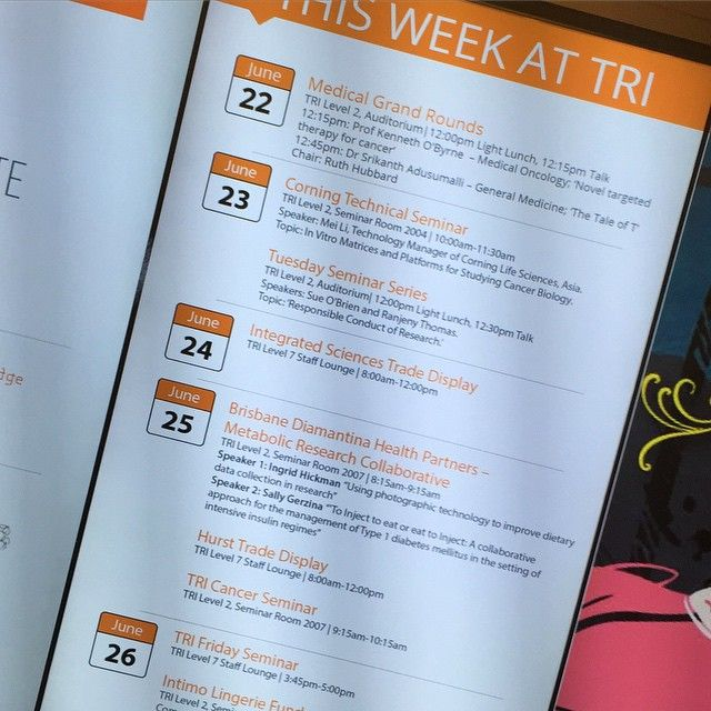 Check your email Friday or the digital wall every Monday for a list of key events for the week. #Tri #events #science #research