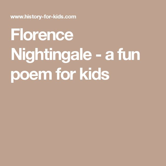 Florence Nightingale - a fun poem for kids