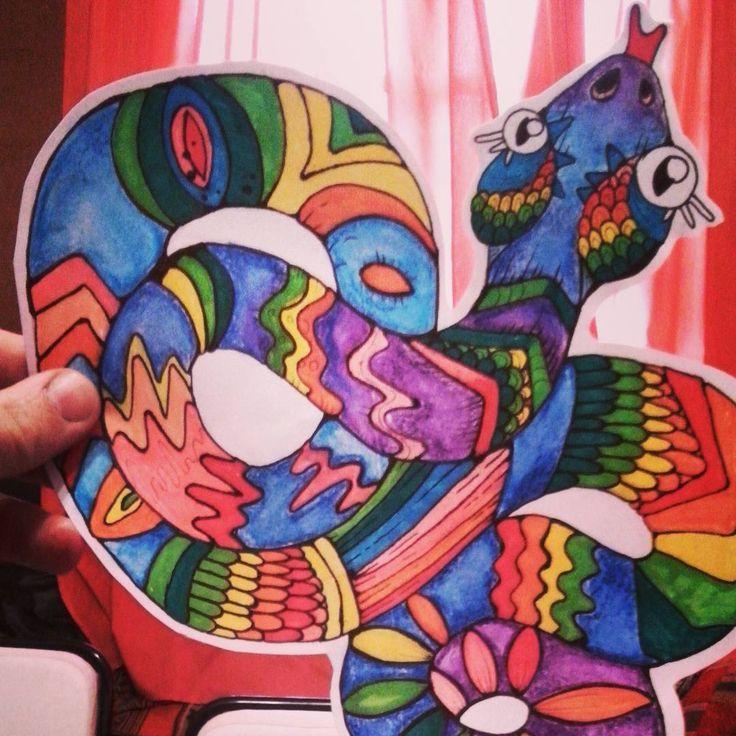 #fullcolor #Art #illustration #draw #drawing #dibujando #dibujo #arte #colors #color #serpiente #stiker #art #artist