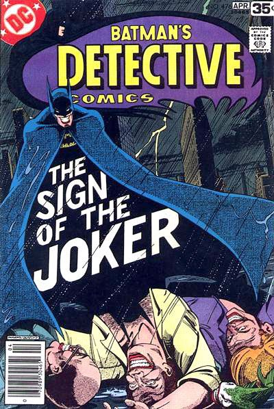 Batman Bronze Age Cover The Sign of the Joker