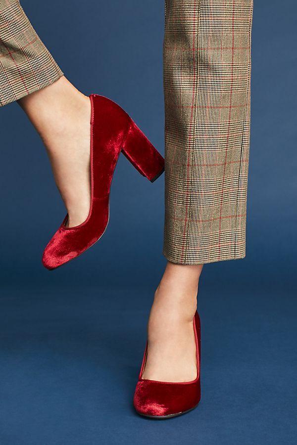 be95dbe2ff Slide View: 2: Sarto by Franco Sarto Aziza Velvet Heels | Block ...