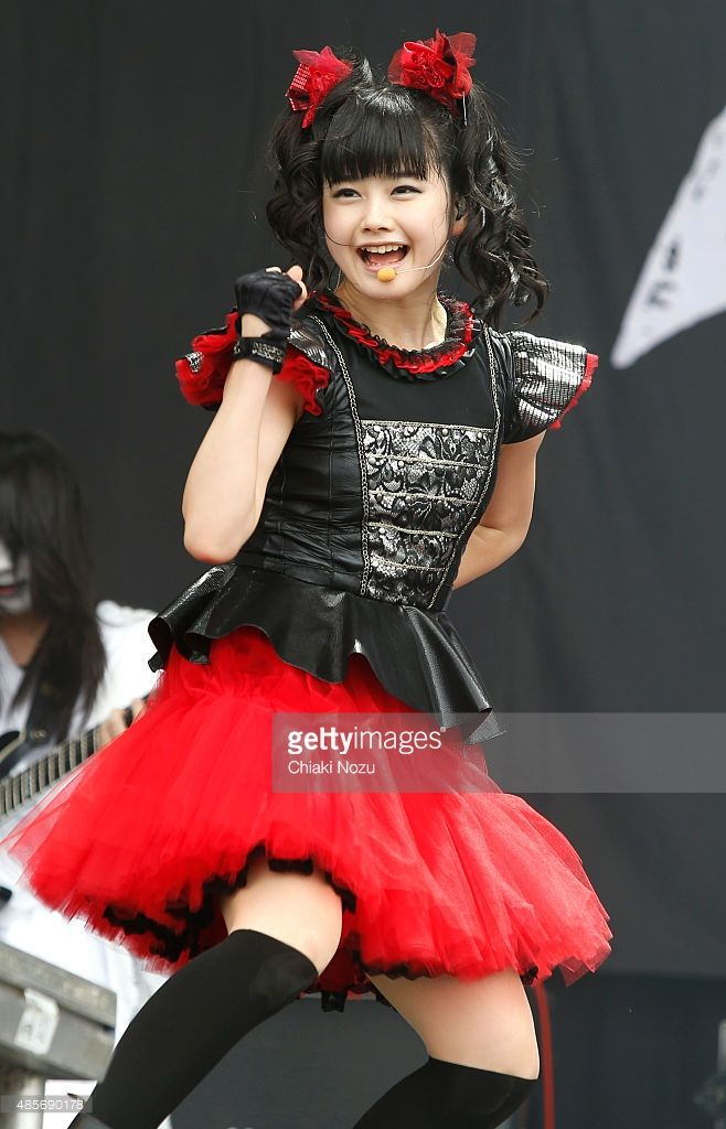 Yuimetal of Babymetal performs on Day 2 of the Reading Festival at Richfield Avenue on August 29, 2015 in Reading, England.