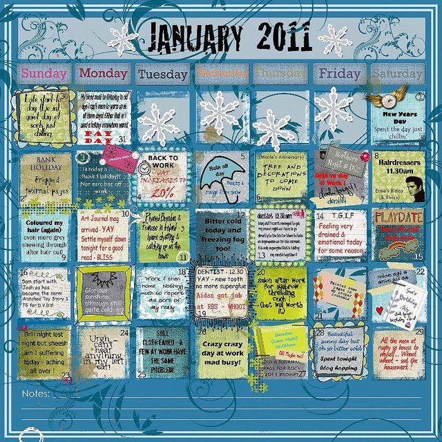 Calendar Art Journal : Images about calendar inspiration on pinterest