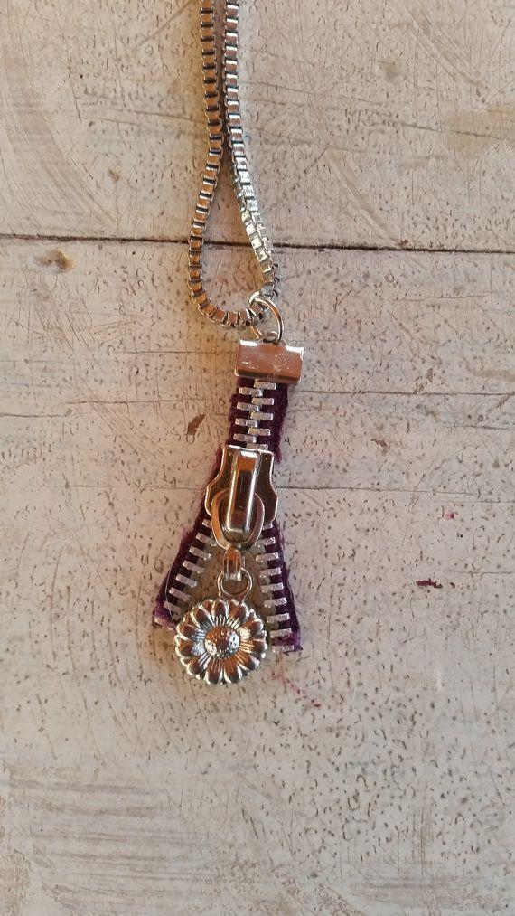 Zipper Jewelry Set Zipper Earring and by PurplePeacockFarm on Etsy
