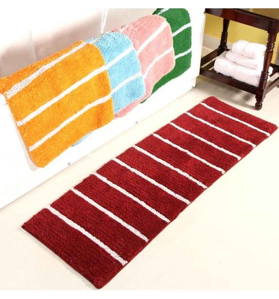 The Superior Quality in Stripy Cotton Bath Runner with Best Discount Offer only on Bath Mat Warehouse.