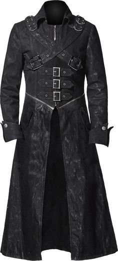 Gothic trench coat black denim http://www.the-black-angel.com/mens-coats/1277-black-denim-trench-coat.html