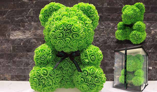 Teddy Bear Flower Green الدبدوب الاخضر بالورد Flora Flowers Teddy