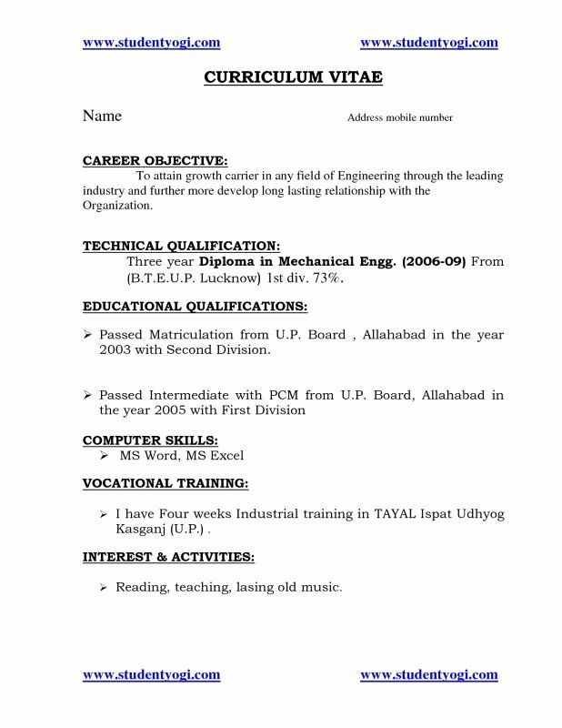 Objective For Engineering Resume Beautiful Tags Resume For Fresher Mechanical Engineering Stud In 2020 Engineering Resume Resume Objective Career Objectives For Resume