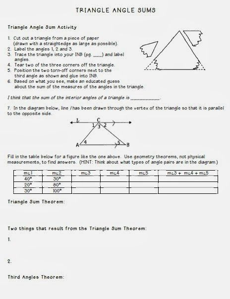 55 best images about angles on pinterest activities - Sum of the exterior angles of a triangle ...