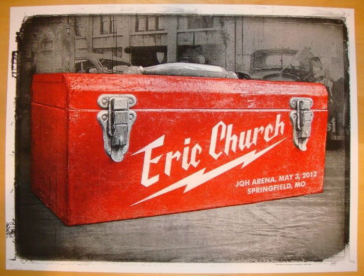2012 Eric Church - Springfield Concert Poster by Jon Smith