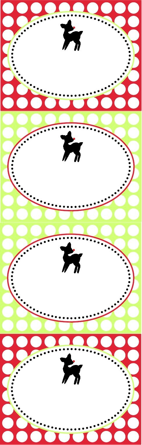 Adorable, free, printable reindeer food tags.  Actual tags in link have saying on them.