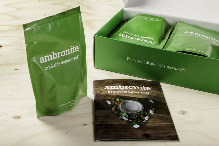 Ambronite - Organic Drinkable Meal - Healthy Meal Replacement Shakes - 10 pack | Ambronite