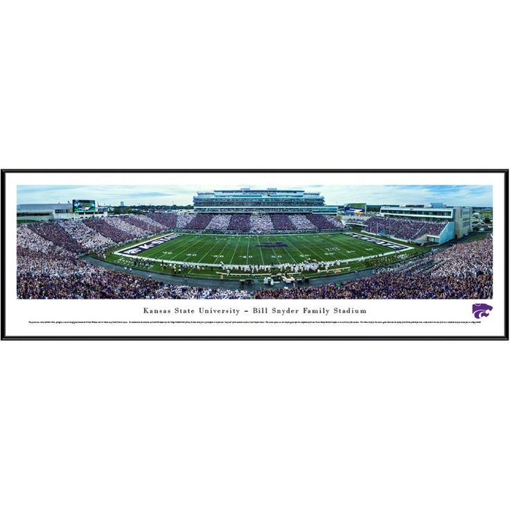 "Kansas State Wildcats 13"" x 40"" Bill Snyder Family Stadium Standard Frame Panorama"