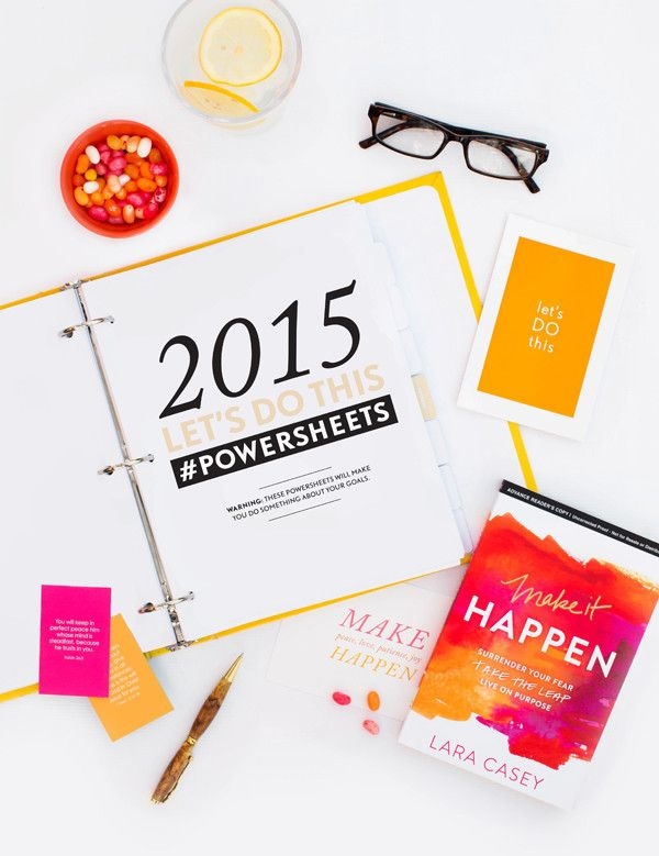 Making Things Happen PowerSheets by Lara Casey | I think items like this are great for people who need a little help with goal setting and making plans for the future.