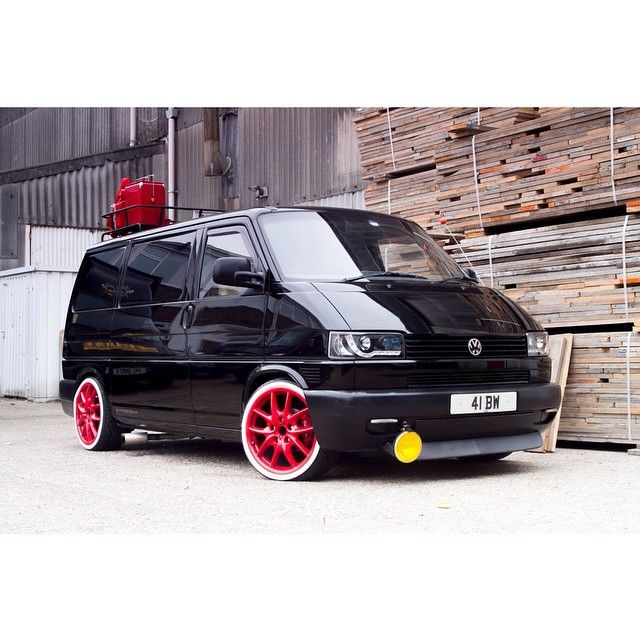 A shot of Bern's Black vwt4! Sporting porsche cayenne wheels.