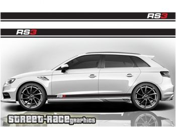Audi RS3 racing stripes graphics decals