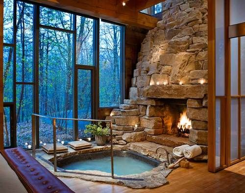 Hot Tub Fireplace, Vermont