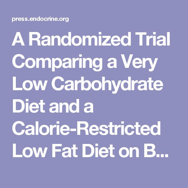 A Randomized Trial Comparing a Very Low Carbohydrate Diet and a Calorie-Restricted Low Fat Diet on Body Weight and Cardiovascular Risk Factors in Healthy Women