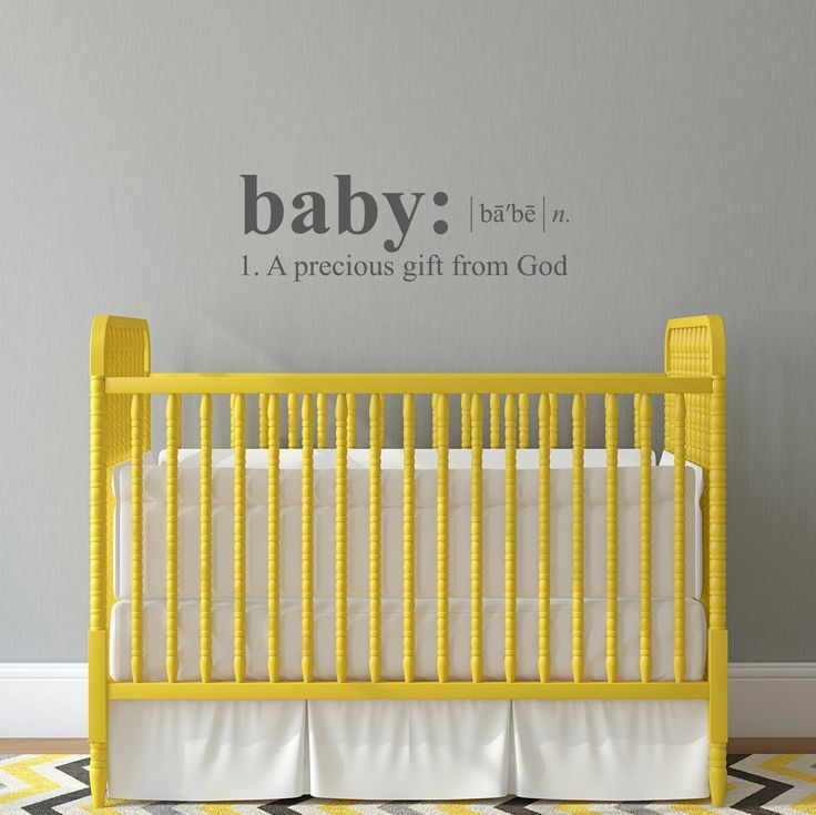 "Baby Wall Decal - Dictionary definition Decal - a precious gift from God - Medium. The Baby Definition Wall Decal is available in the color of your choice. See the color chart for your options. The photographs are for a reference be sure to use the measurements when ordering. Size - 32"" wide by 10.4"" high ."