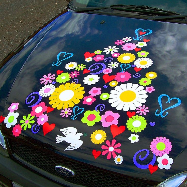Best Uniquely Designed Hippy Car Stickers Decals Transfers For - Vinyl decals for cars uk