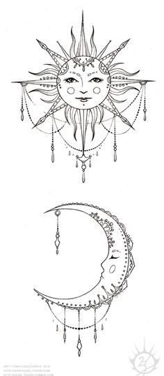 Татуировка Луна , Полумесяц | Значения | 96 фото и эскизов — Лучшая подборка!