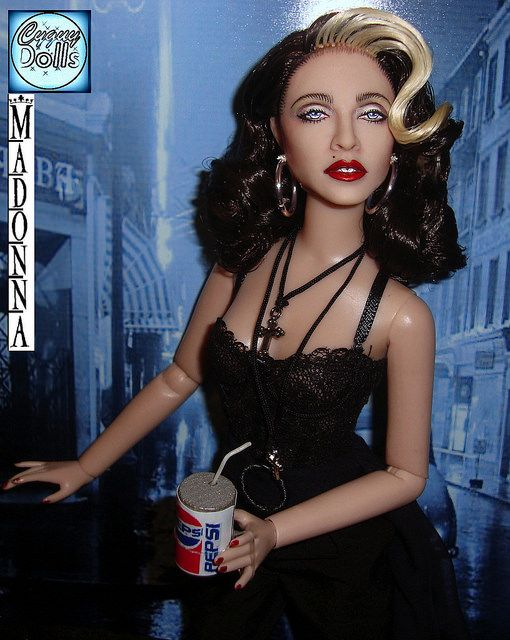 madonna doll from the pepsi advertisements | Madonna Pepsi commercial Doll By Cyguy dolls by Cyguydolls