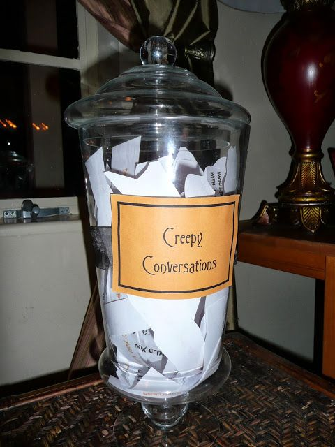 creepy conversations halloween party game - Game Ideas For Halloween Party