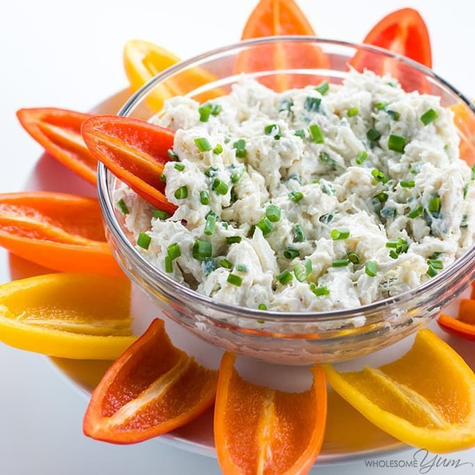 This easy cold crab dip recipe with cream cheese takes just 5 minutes to put together! It's the perfect quick appetizer for any party.