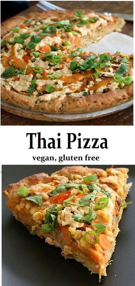 Thai Pizza - vegan, gluten free
