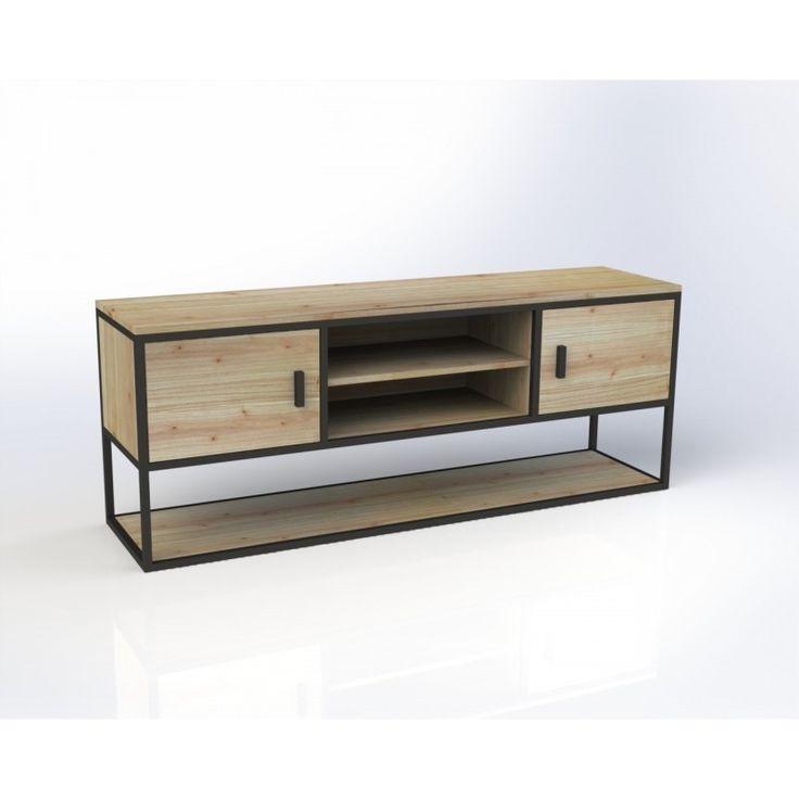 633 mejores im genes de metal y madera en pinterest for Consola estilo industrial