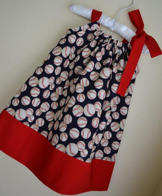 Baseball Pillowcase Dress  Baseball Outfit by LilBambinaBoutique, $19.99