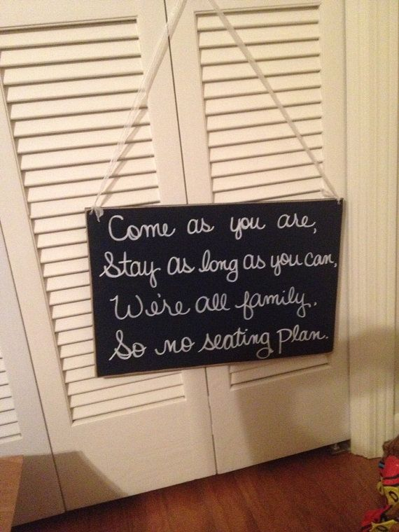 Seating wall hanging  on Etsy, $30.00