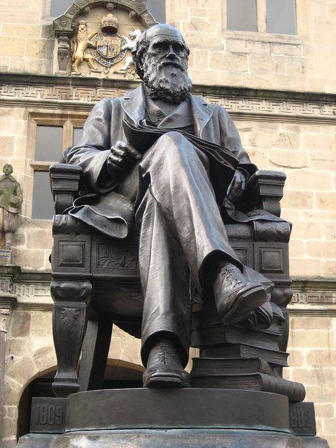 Charles Darwin statue in Shrewsbury