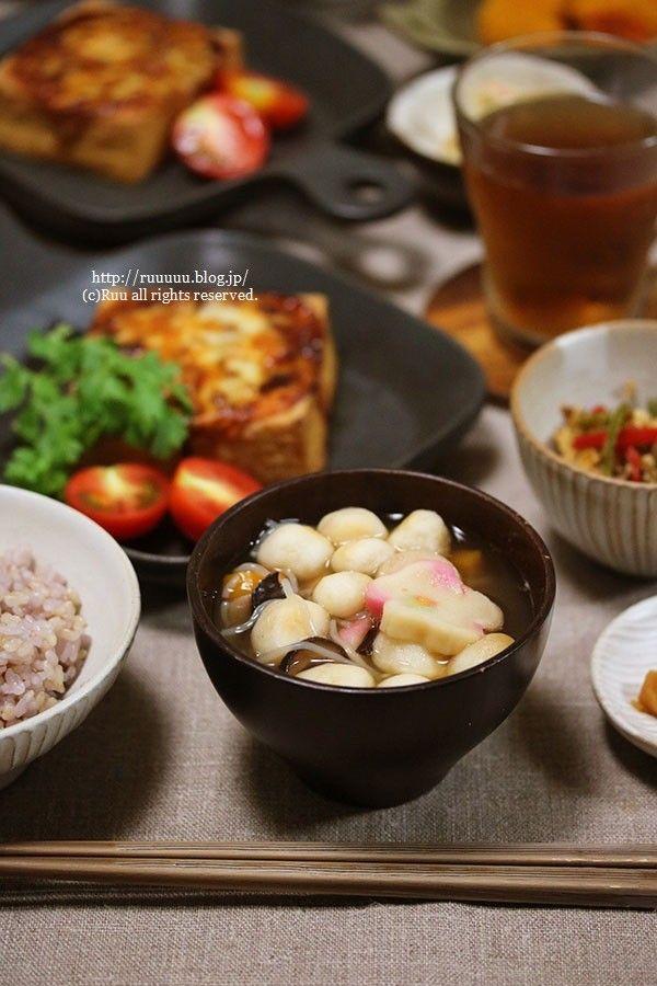 献立】絹揚げバーグとこづゆなど。~オカンとアタシと、時々、子パンダ ... 会津の郷土料理「こづゆ」。