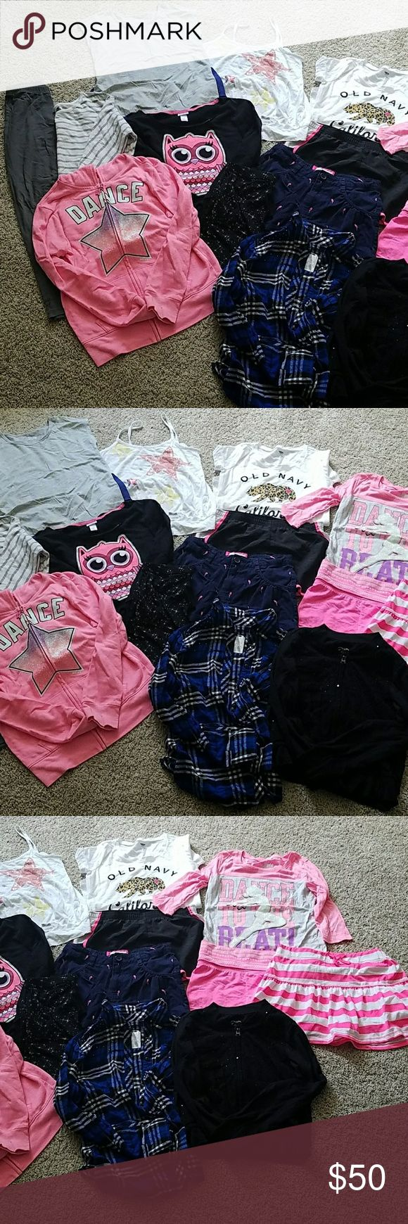 Lot girls size 10/12 clothes, multi brands A lot of fashion for your little fashionista! Like new condition, my daughter barely wore. Shirts & Tops