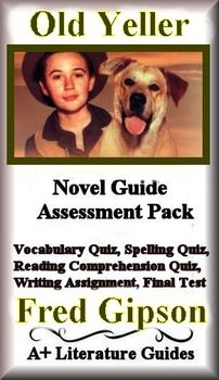 This is an 34 page Novel Guide and Assessment Pack for the classic novel, Old Yeller, by Fred Gipson. Put away boring test prep, and teach the Language Arts Common Core Standards using this Literature Guide and a book that students will love! This guide has everything that you will need to teach and assess the entire novel.