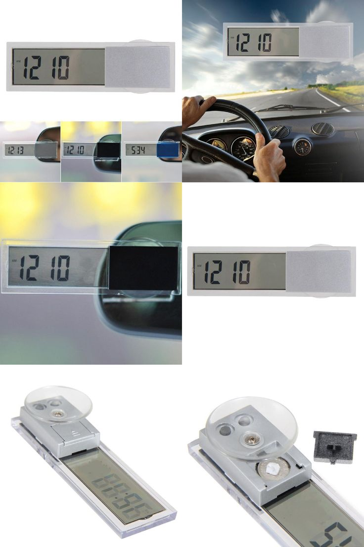 [Visit to Buy] 2016 Hot Selling Mini LCD Digital Auto Car Truck Clock  with Suction Cup  Button Cell Battery Easy To Carry #Advertisement
