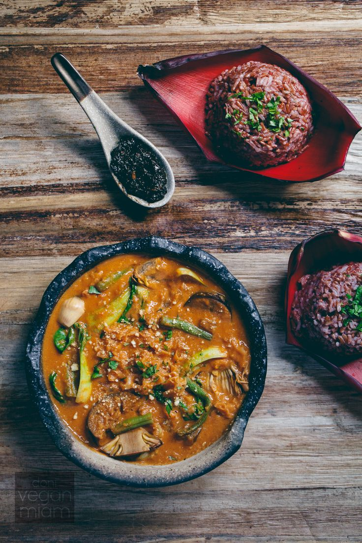 #Vegan and #GlutenFree Kare-Kare (#Filipino Peanut Stew) with Banana Blossom