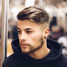 High Fade + Thick Side Swept Hair