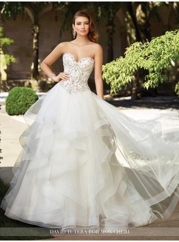 Elegantní & moderní Zip Přírodní Svatební šaty 2017