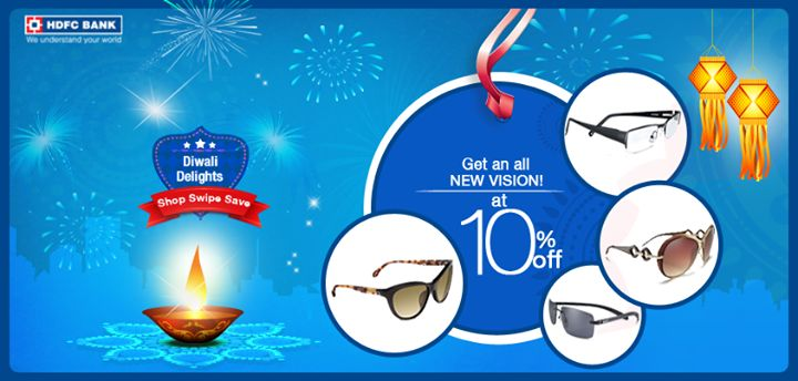 Bored of those same old optical frames? This #Diwali grab the latest collection of Titan eye+ optical products. Get 10% discount with your #HDFC Bank Credit or Debit card.To avail of this offer. #ShopSwipeSave